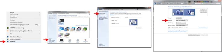 Laptop mit Fernseher Verbinden - Windows 7 Auflösung