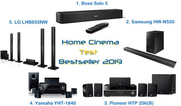 Home Cinema Test – Bestseller 2019