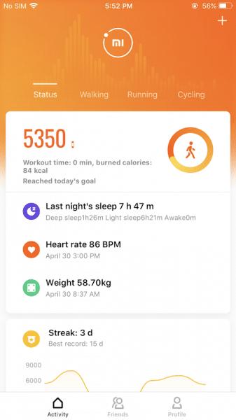 Xiaomi Mi Band 4 Test - Mi Fit app