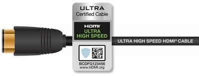 HDMI 2.1 Ultra High Speed zertifiziertes Kabel