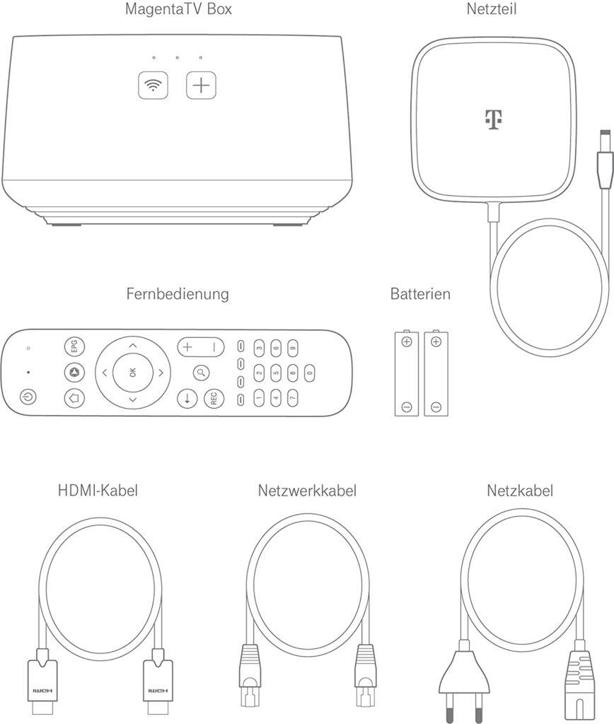 MagentaTV Box Lieferumfang