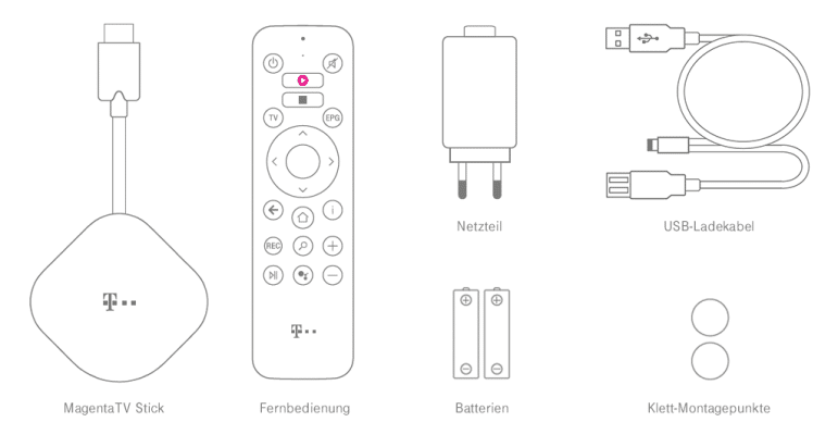 MagentaTV Stick Test - Liferumfang